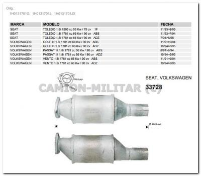 1h0131701j catalizador seat toledo volkswagen tubo de - Antiguedades en toledo ...